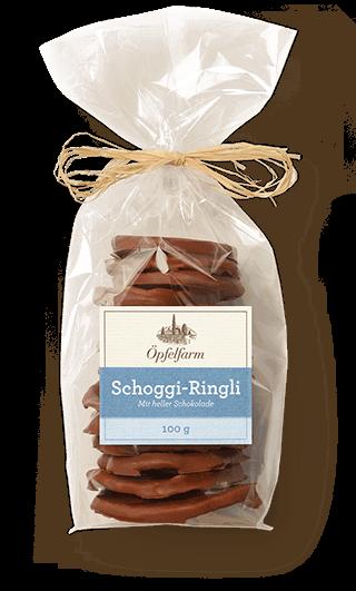 Schoggi-Ringli mit heller Schokolade
