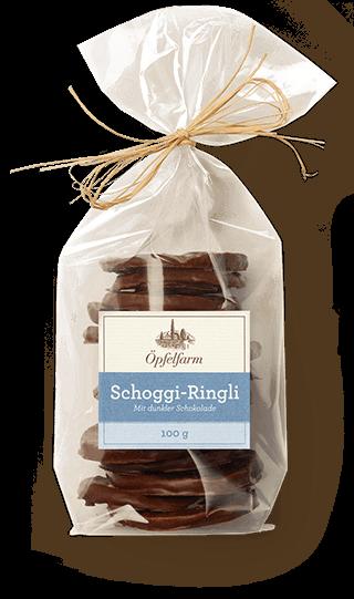 Schoggi-Ringli mit dunkler Schokolade