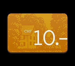 Geschenkgutschein CHF  10.–