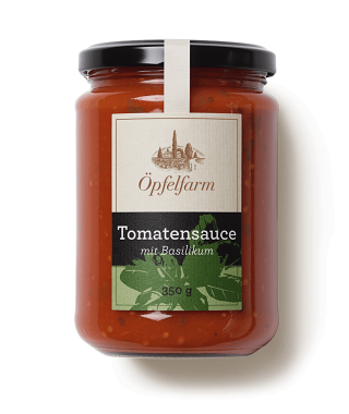 Thurgauer Tomatensauce mit Basilikum
