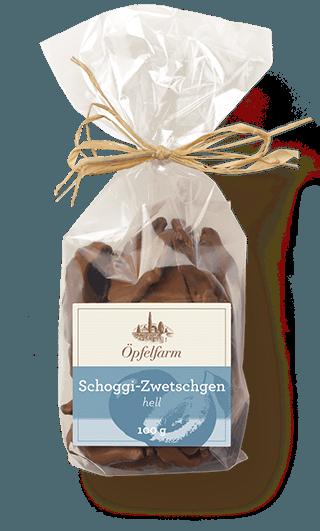Schoggi-Zwetschgen mit heller Schokolade