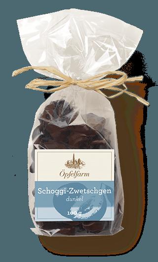 Schoggi-Zwetschgen mit dunkler Schokolade