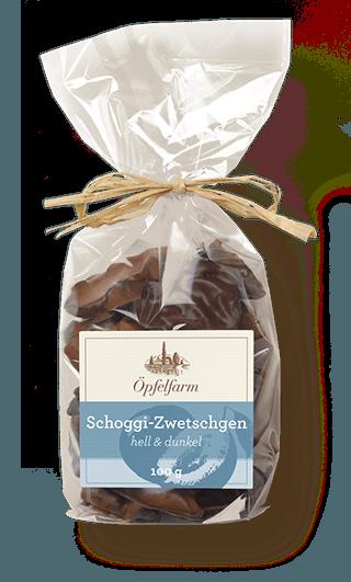 Schoggi-Zwetschgen mit heller & dunkler Schokolade