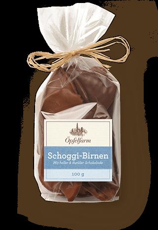 Schoggi-Birnen mit heller & dunkler Schokolade